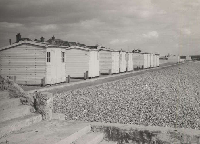 A view at Milford-on-Sea in the 1960's